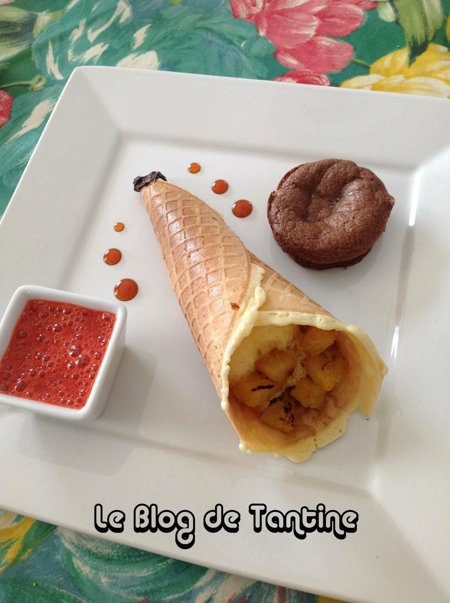 Cornets croustillants pour caf gourmand cuisine de tantine - Assiette rectangulaire pour cafe gourmand ...